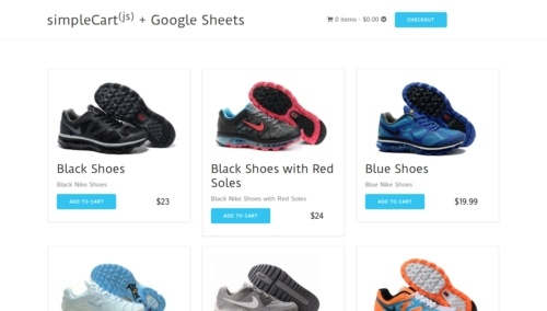 SimpleSheets Shopping Cart project thumbnail